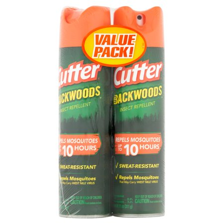 Cutter Backwoods Insect Repellent, Aerosol, 2/11-oz