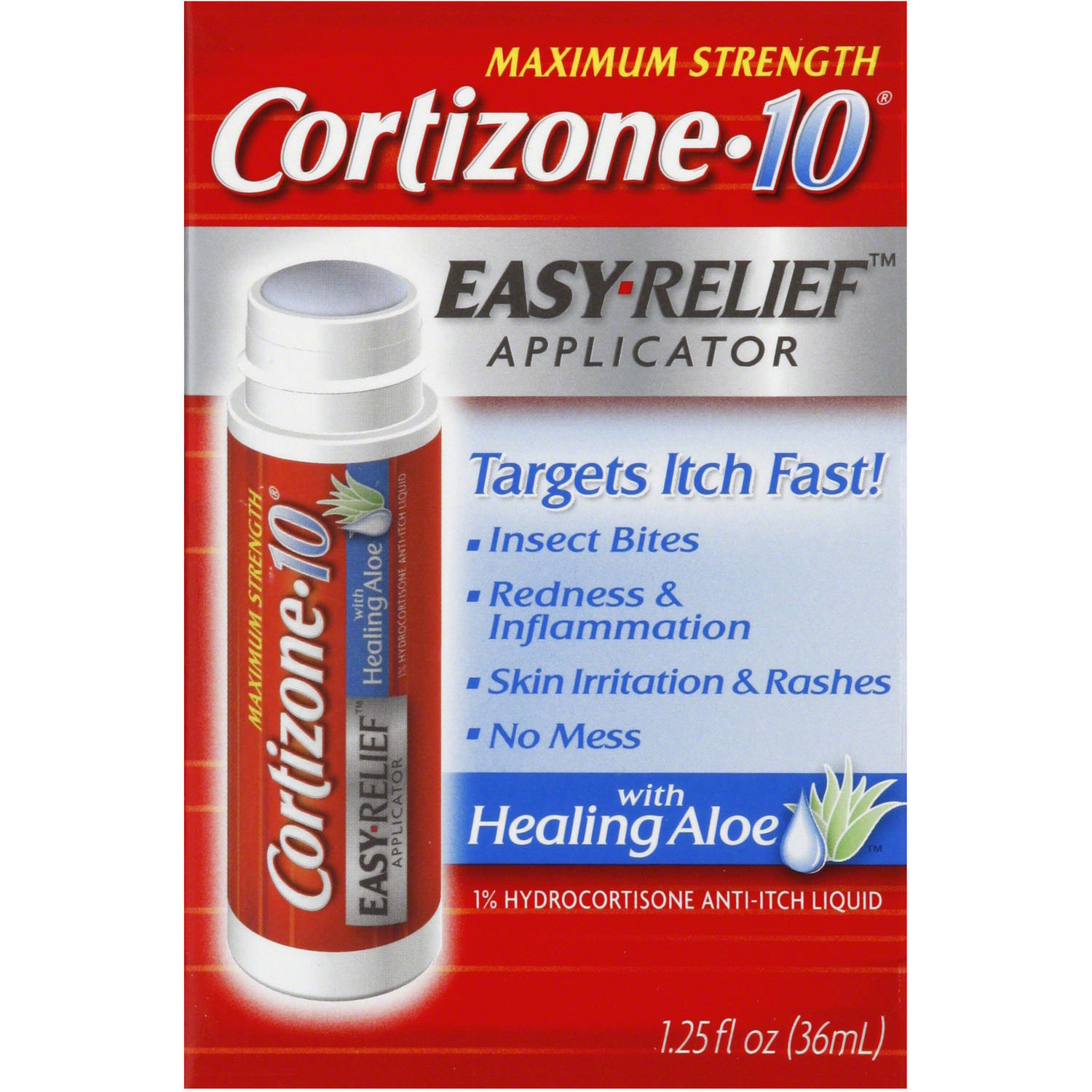 Cortizone 10 Easy Relief Applicator Anti-Itch Liquid, 1.25 oz