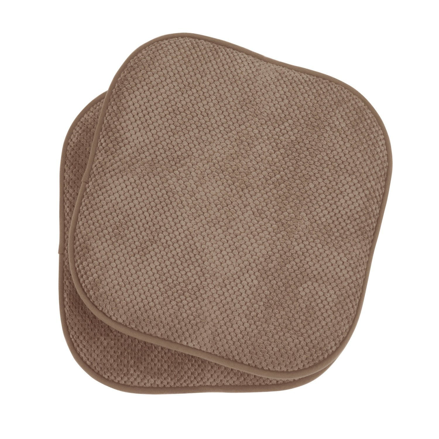2 Pack: GoodGram Non Slip Ultra Comfort Memory Foam Chair Pads Taupe by GoodGram
