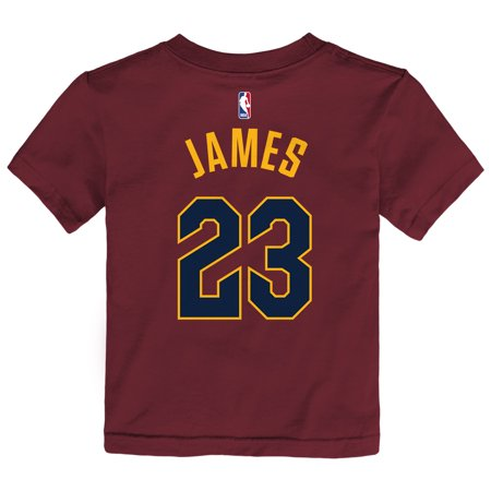 new arrival 62dd4 d7b3d LeBron James Cleveland Cavaliers Nike Toddler Name & Number T-Shirt - Maroon