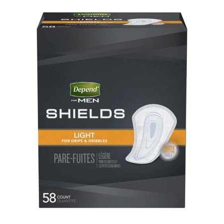 Depend Guards for Men Light Absorbency Male Incontinent Pad Cup-Like Shape