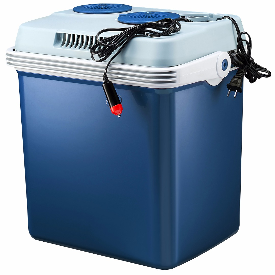 Knox 34 Quart Electric Cooler Warmer with Dual AC and DC Power Cords (Blue) by Knox