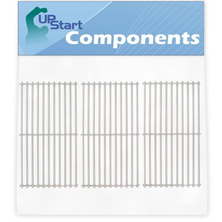 3-Pack BBQ Grill Cooking Grates Replacement Parts for Charbroil 463441513 - Compatible Barbeque Stainless Steel Grid 16 7/8