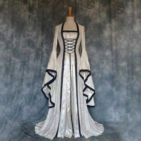 Cheap Renaissance Dresses (Women's Medieval Renaissance Dress Retro Gothic Royal Court)
