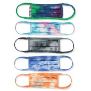 5-Pack Real Tie-Dye 100% Cotton 2 Layer Reusable Face Mask
