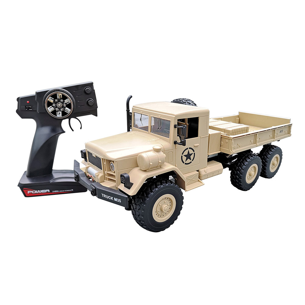 2.4Ghz 6WD Remote Control 1 12 Military Army Truck M35 6X6 Off Road RC Car Crawler Toys RC Truck by