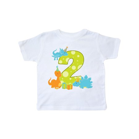 Dinosaur party-Second Birthday Toddler T-Shirt - Dinosaur Decorations For Birthday