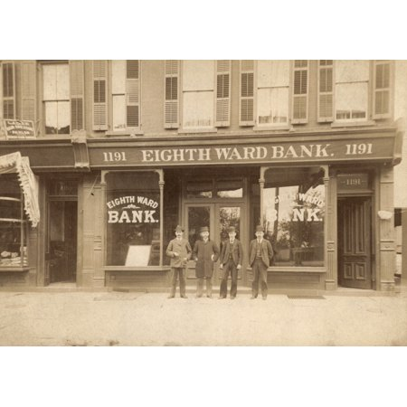 New York Bank 1900 Neighth Ward Bank C1900 Poster Print By Granger Collection