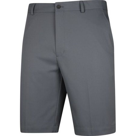 New Greg Norman Mens Classic Profit Flat Front Shorts Steel Grey   Choose Size