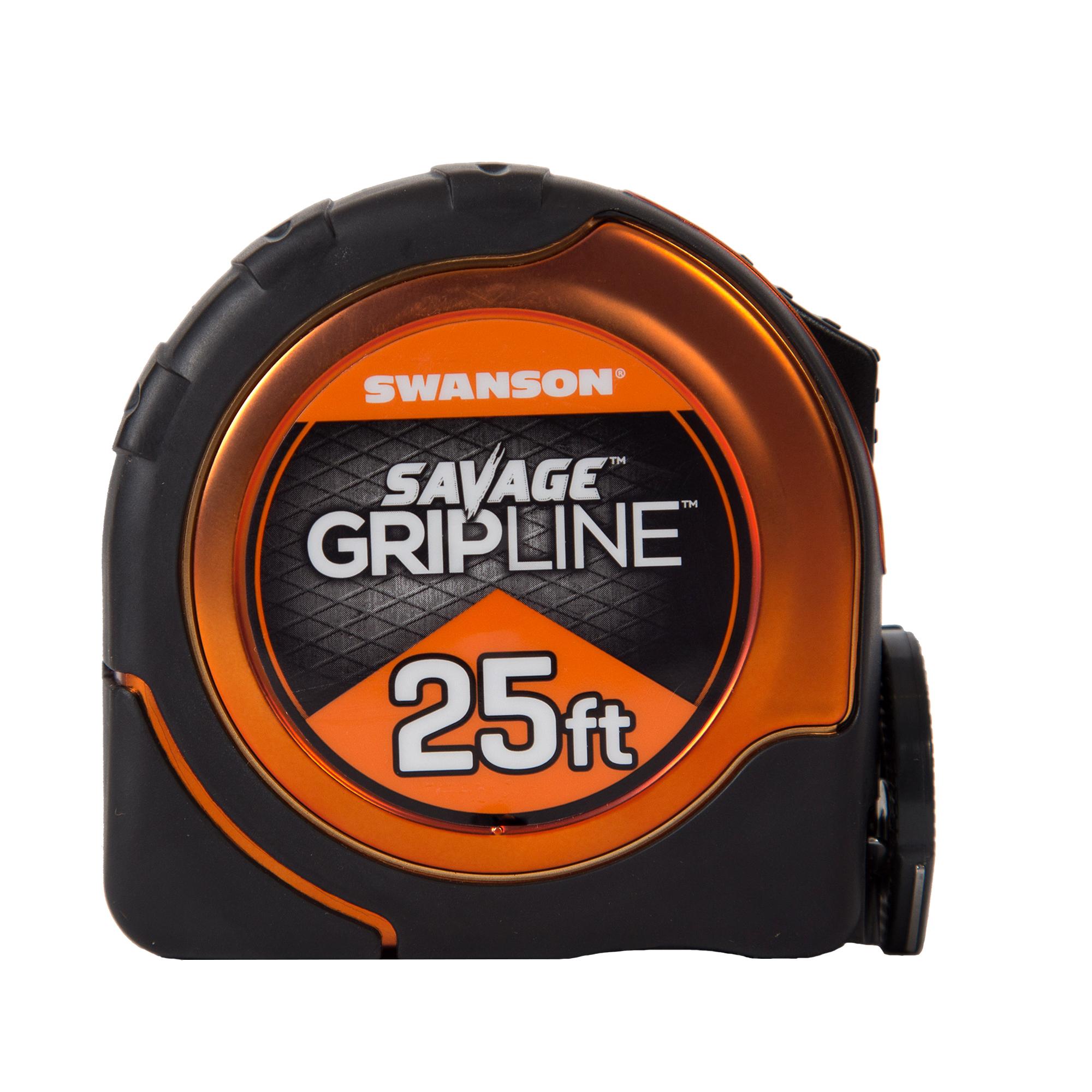 Swanson SAVAGE SVGL25M1 25-Foot GripLine Magnetic Measuring Tape
