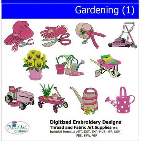 Threadart Machine Embroidery Designs Gardening(1) CD ()