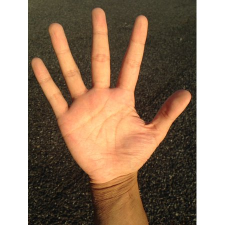 LAMINATED POSTER Palm Reading Palm Bleaching Finger Young Hand Poster Print 24 x 36
