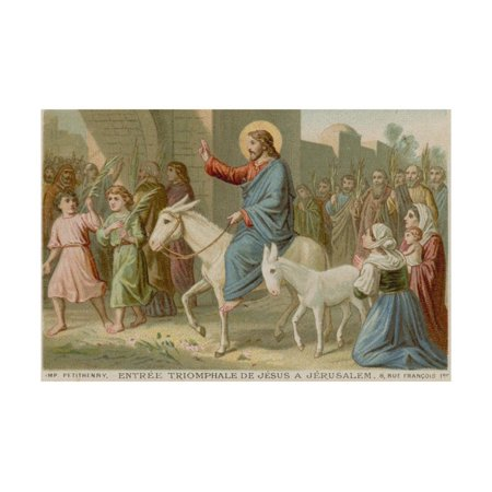 Triumphal Entry - The Triumphal Entry of Jesus into Jerusalem Print Wall Art