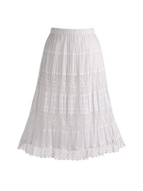 987ff7bb3d1 Product Image Women s White Peasant Skirt - Cotton Lace 26