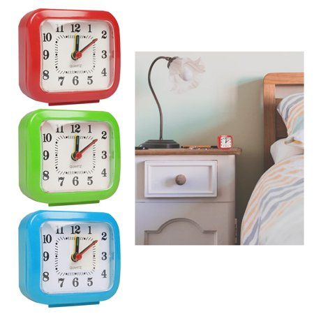 1 Analog Alarm Clock Vintage Retro Classic Bedroom Bedside Battery Operated