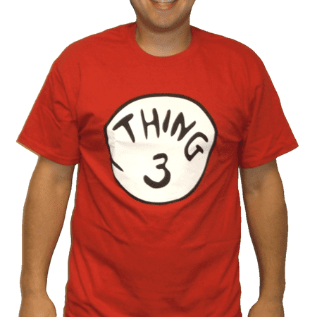 Thing 3 T-Shirt Costume Movie Book Adult Womens Kids Red Couple Twins Shirt Gift Halloween Group](Halloween Outfits Couples)