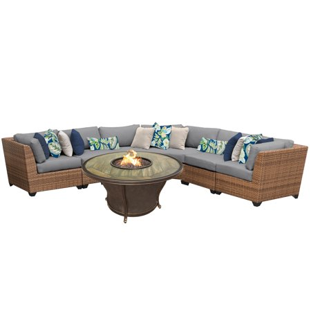 tuscan 6 piece outdoor wicker patio furniture set 06m