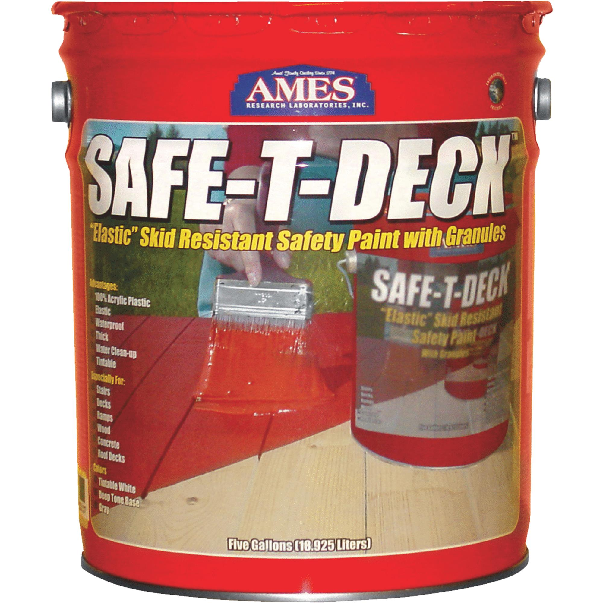 Ames Safe-T-Deck Granulated Deck Coating 5 gallon Grey by Ames Research Laboratories, Inc.