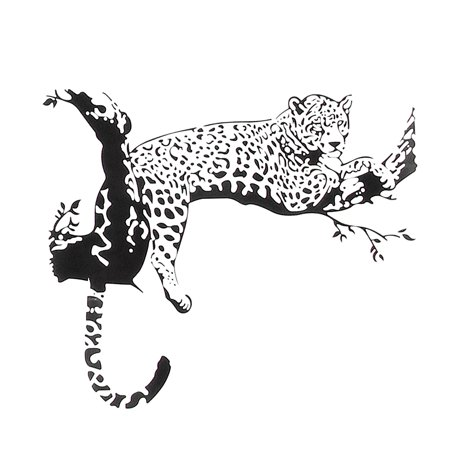 Leopard Wall Mural (Large Leopard Tiger Art Room Home Removable Decor Wall Decal Sticker Mural)