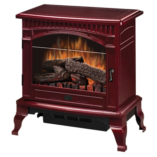 Dimplex Traditional Electric Wood Stove, Cranberry
