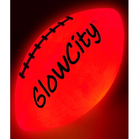 Official Size LED Light Up Football-Tough-Better Than Glow In The Dark - Glow In The Dark Blacklight