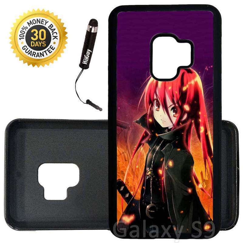Custom Galaxy S9 Case (Shakugan No Shana) Edge-to-Edge Rubber Black Cover Ultra Slim | Lightweight | Includes Stylus Pen by Innosub