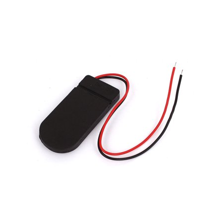 Plastic Shell 2-Wire 2 x CR2032 Battery Holder Case Box w Cover Switch - image 1 de 2