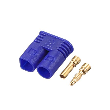 2mm Bullet Connector Gold Plated Banana Plugs Pair(Device End&Battery End) (Banana Ends)