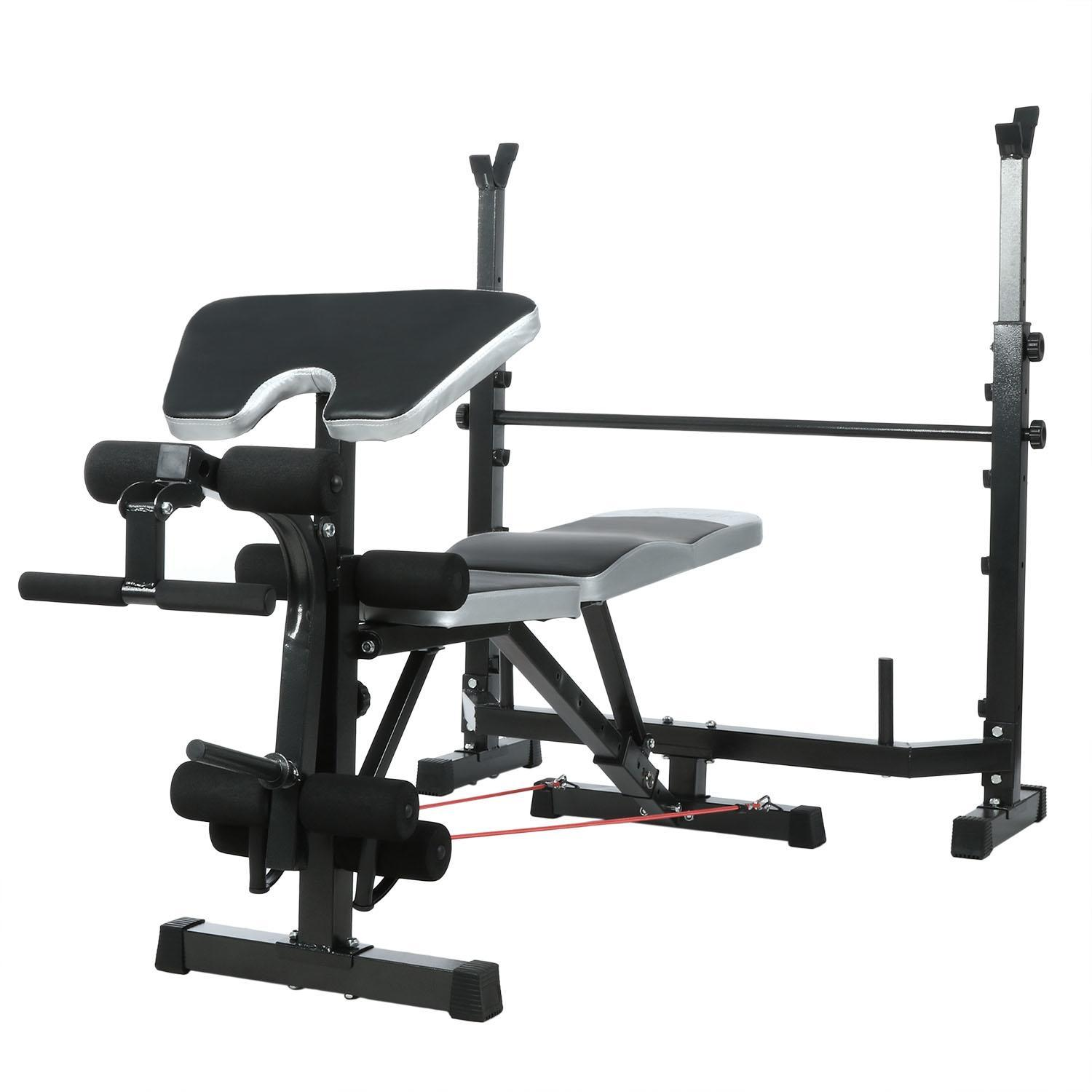 Multi-function Olympic Workout Bench and Rack Home Gym Fitness Weight Bench