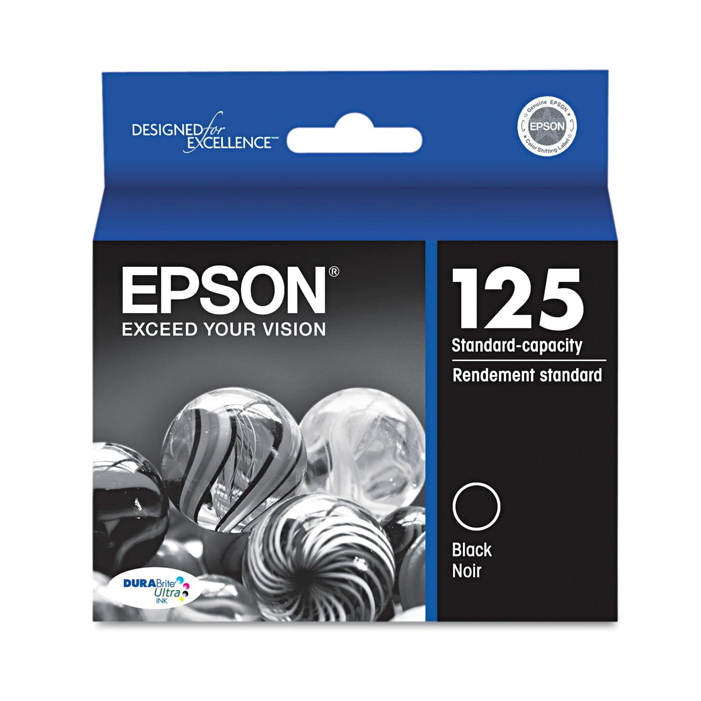 Epson T125120 (125) DURABrite Ultra Ink, Black by Epson