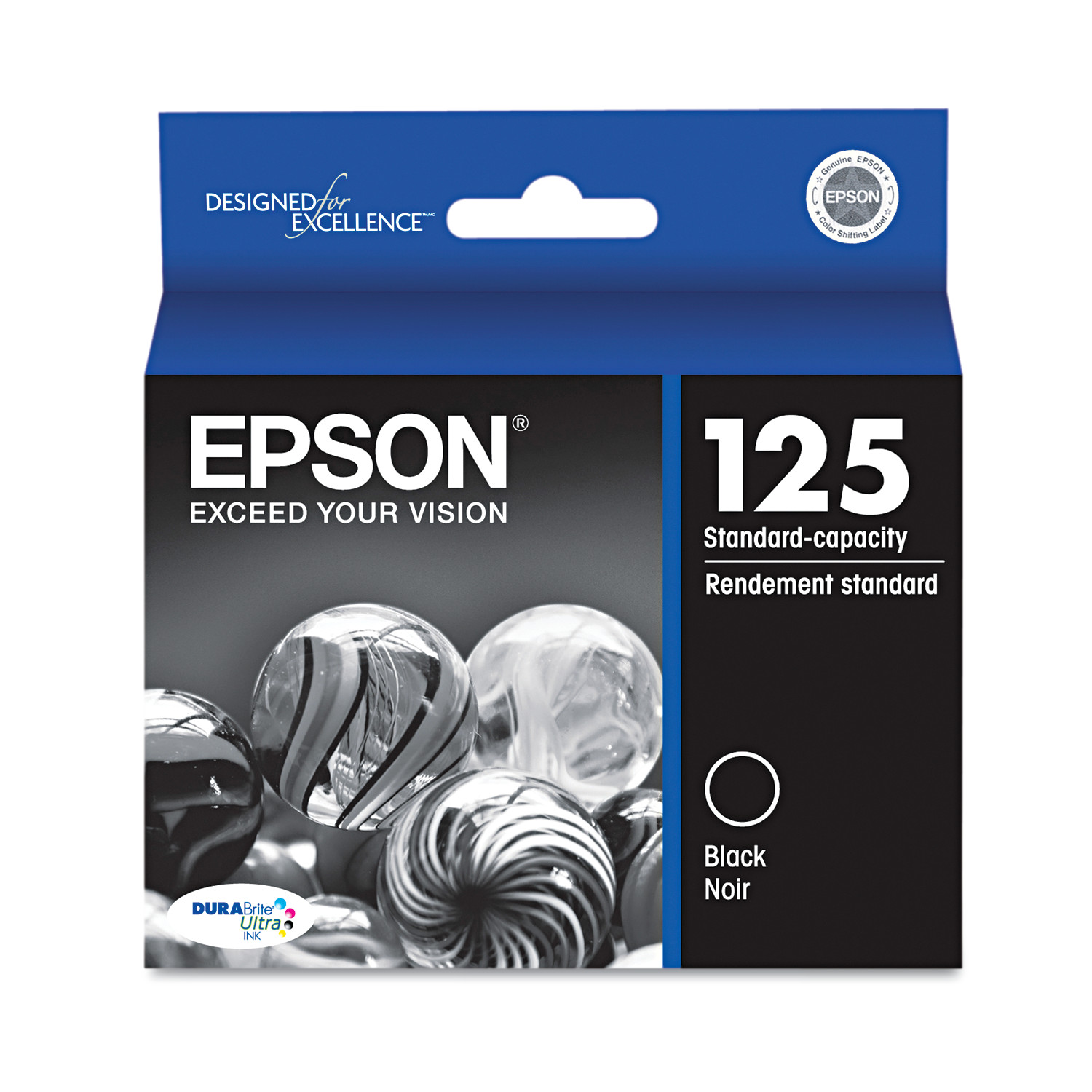 Epson T125120 (125) DURABrite Ultra Ink, Black