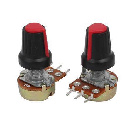 11pcs 1K ohm Adjustable Rotary Shaft Audio Taper Potentiometer Replacement - image 3 of 3