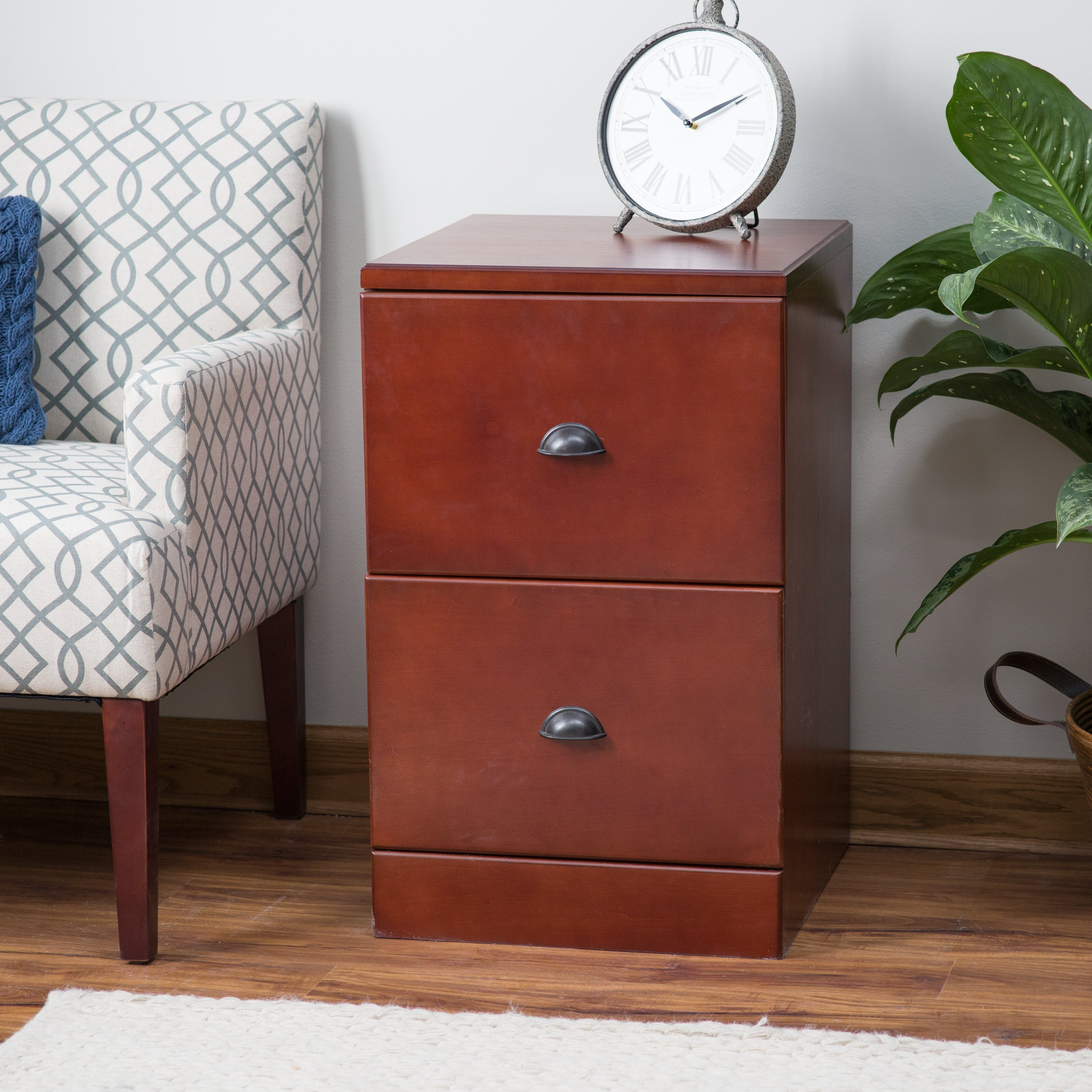 Belham Living Cambridge 2-Drawer Wood File Cabinet - Rich Cherry - Walmart.com : cherry filing cabinet 2 drawer - Cheerinfomania.Com