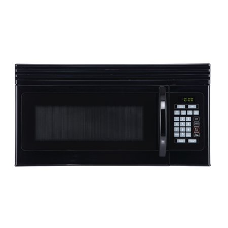 Black+Decker EM044KJN-P2 1.6-Cu. Ft. Over-the-Range Microwave with Top Mount Air Recirculation Vent, Black Over-the-range Microwave Oven