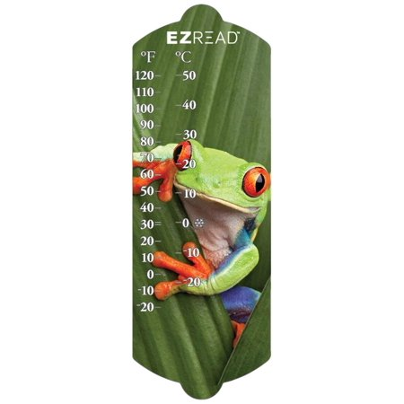 "Image of ""Headwind Consumer Products 840-0047 EZREAD Indoor/Outdoor Thermometer with Frog, 10"""""""