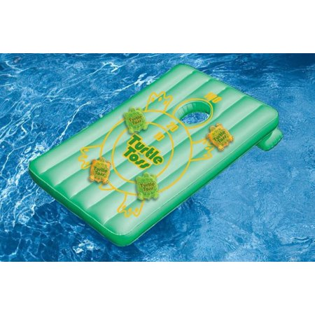 Water Sports Inflatable Turtle Toss Cornhole Target Swimming Pool Game - Use In or Out of the