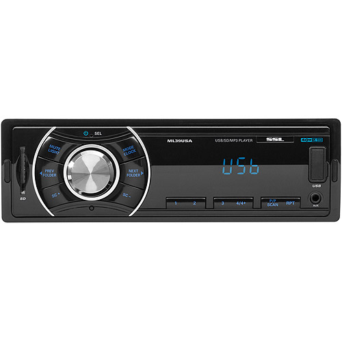 Soundstorm SSL ML39USA Single Din Mech-Less USB/SD/Aux Digital Media Receiver
