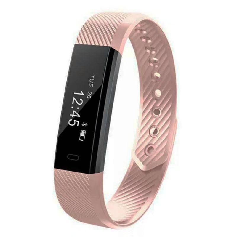 VicTsing Smart Bracelet Fitness Tracker Watch Alarm Clock Step Counter Smart Wristband Band Sport Sleep Monitor Smartband (Black)