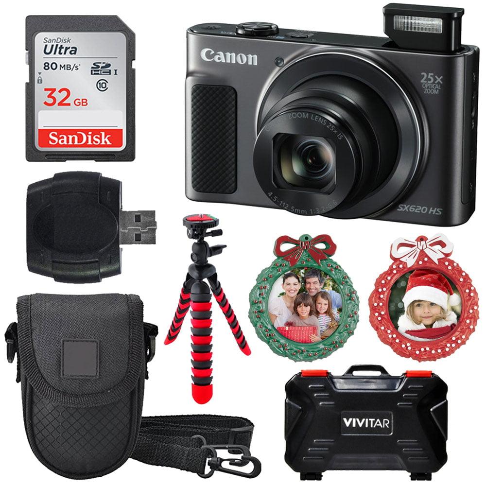 Canon PowerShot SX620 HS Digital Camera Black with 25x Optical Zoom + 32GB Kit