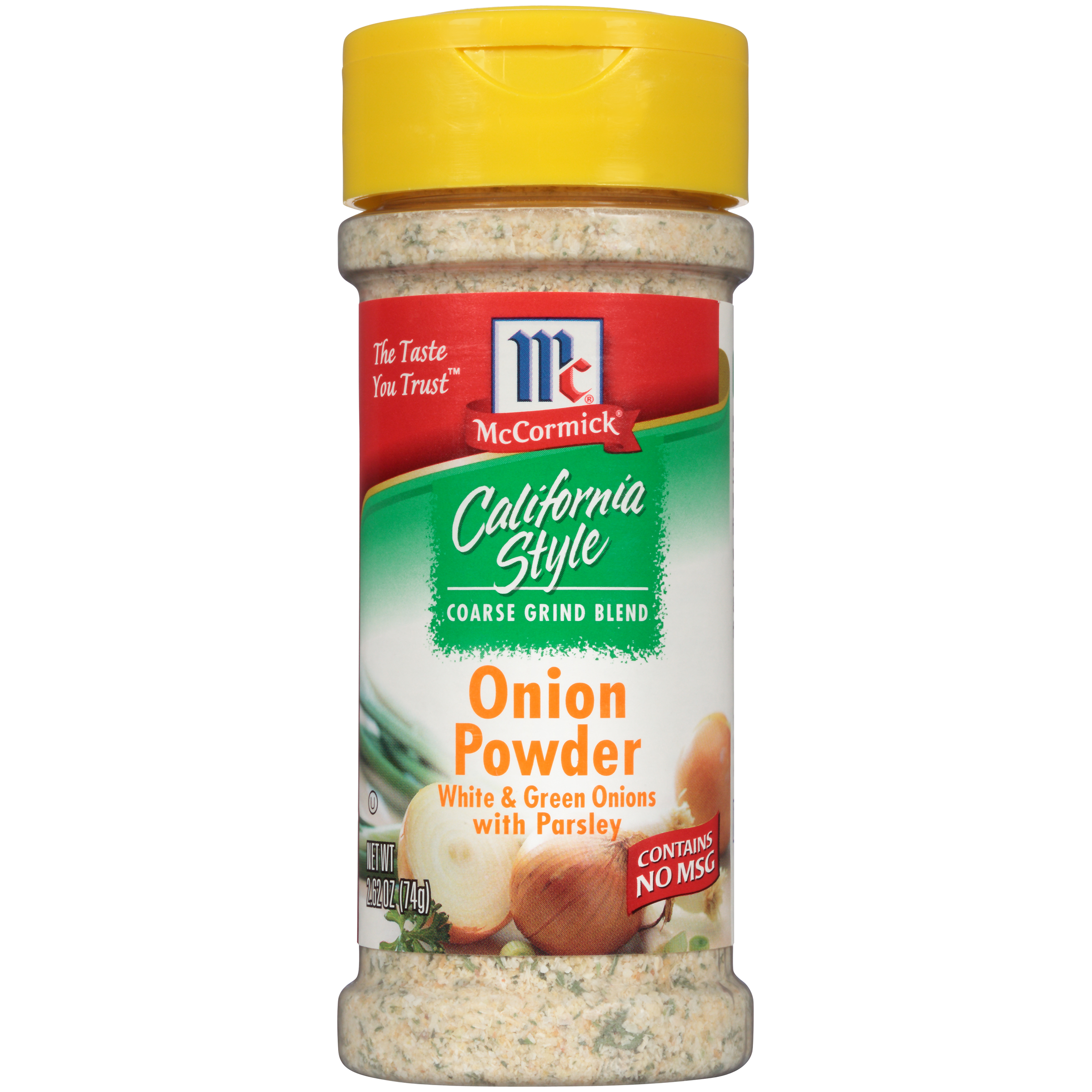 (2 Pack) McCormick California Style Onion Powder Coarse Grind Blend, 2.62 oz