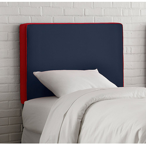 Skyline Furniture Upholstered Headboard, Full, Navy/Red