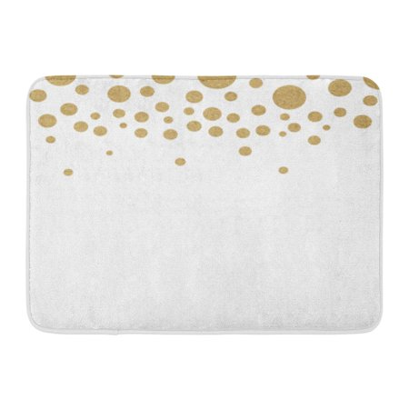 KDAGR Brown Abstract Gold Circle Polka Dots Yellow Bronze Rough White Light Doormat Floor Rug Bath Mat 23.6x15.7 inch](Gold Door)