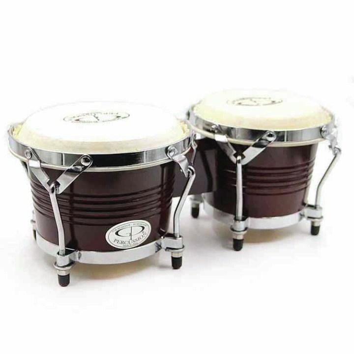 Gp Percussion Z-Brw2 Dark (old Style) Wood Bongo by GP PERCUSSION