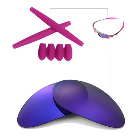 4f11eb5523 Walleva Purple Polarized Replacement Lenses And Purple Rubber Kit(Earsocks+Temple  Socks) For Oakley Penny Sunglasses - Walmart.com