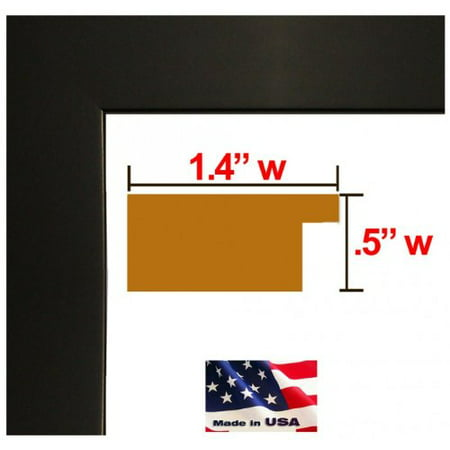 24x24 Single Flat Black 1 25 inches Wood Composite mdf Picture Poster Frame  #BlkMDF1 25-Single