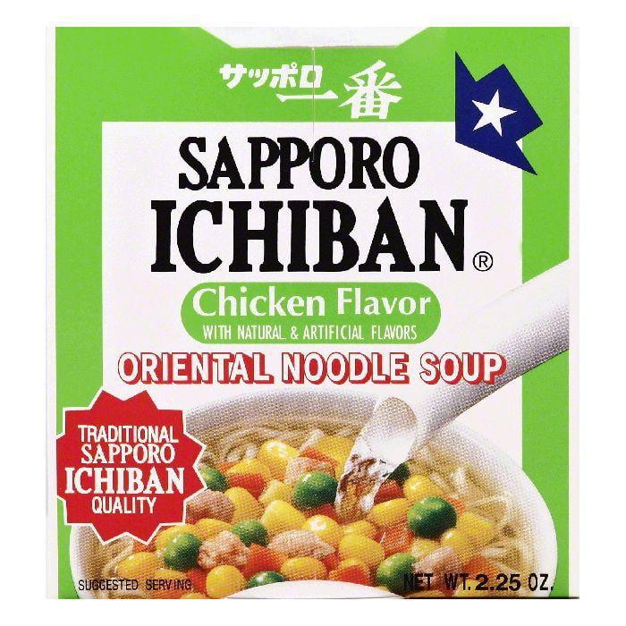 Sapporo Ichiban Chicken Flavor Oriental Noodle Soup, 2.25 OZ (Pack of 12)