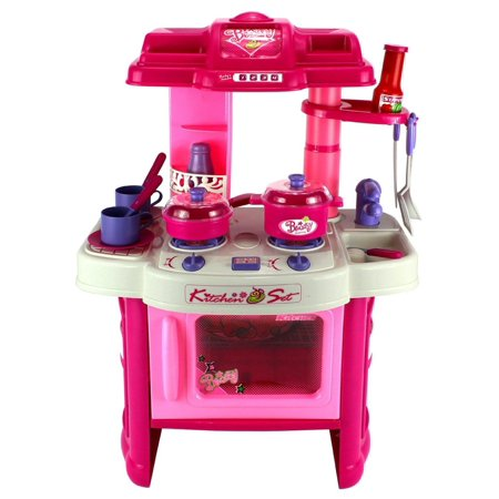 a7803541744d Deluxe Kitchen Appliance Children's Toy Cooking Play Set w/ Lights &  Sounds, Perfect for Your Little Chef - Walmart.com