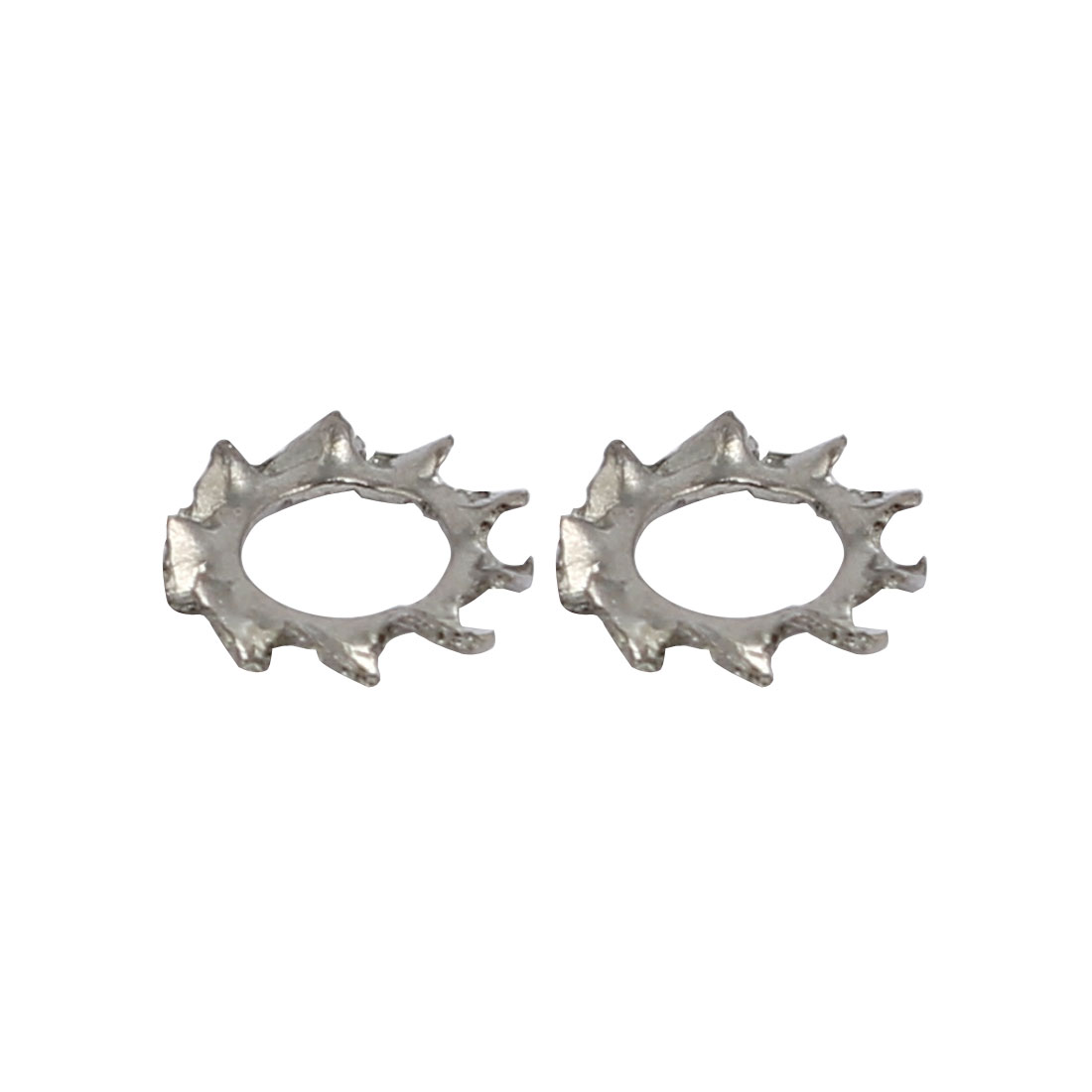 3mm Inner Dia 304 Stainless Steel External Tooth Lock Washer Silver Tone 100pcs - image 1 of 2
