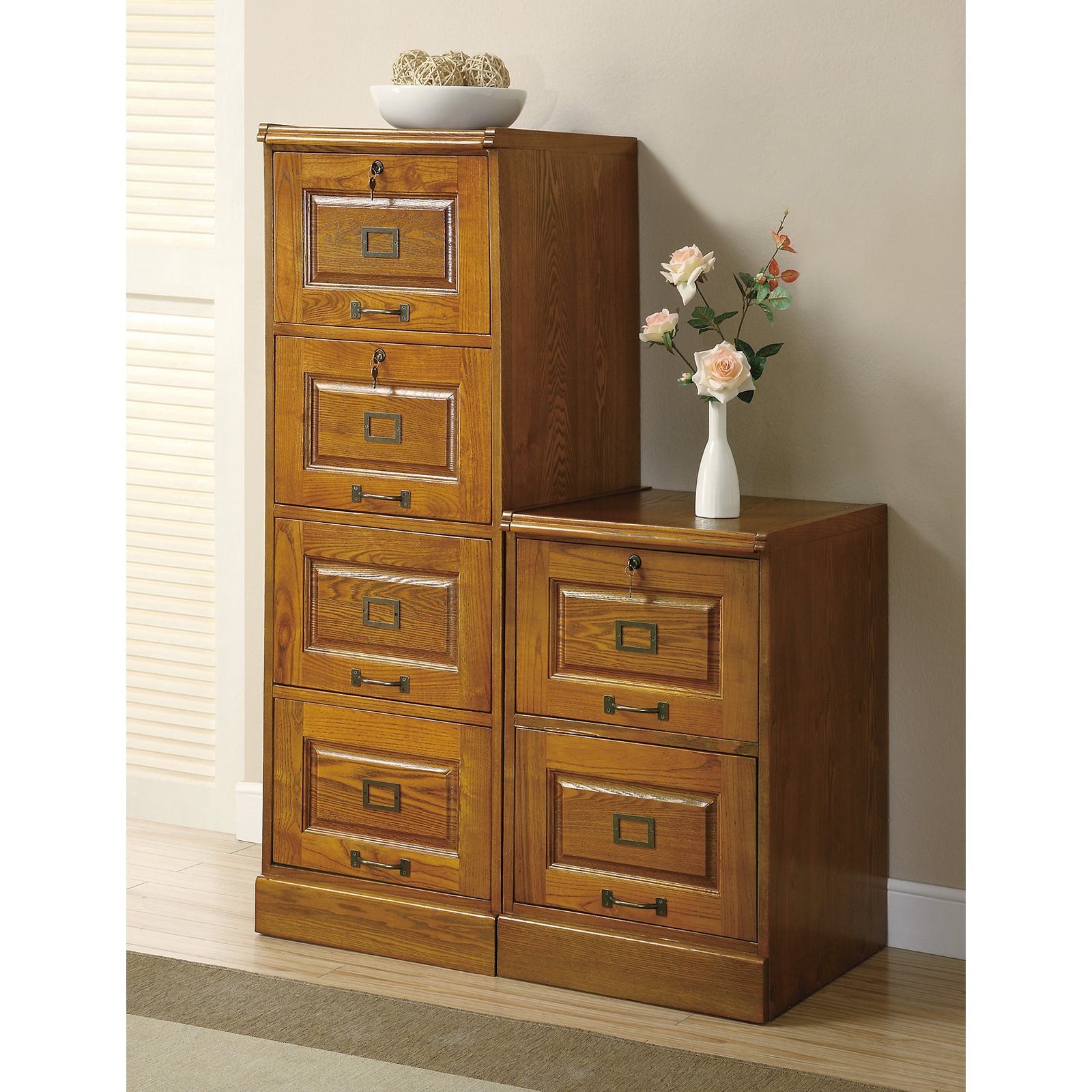 Coaster Furniture Warm Honey Locking 2 Drawer File Cabinet   Walmart.com