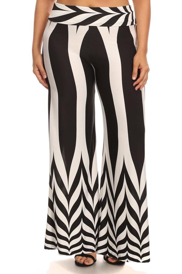 Women's PLUS  full length wide legs pants.